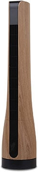 Goldair 90cm DC Tower Fan with Wood Finish