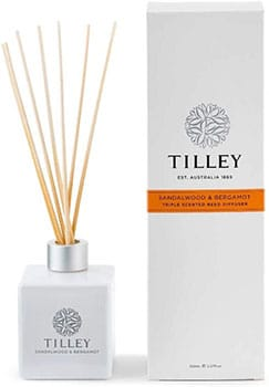 Tilley Sandalwood Bergamot Triple Scented Reed Diffuser
